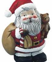 Feest knutsel kerstman van piepschuim 17 5 cm