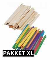 Feest knutsel pakketten met houtjes xxl