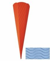 Feest knutsel schoolzak karton lichtblauw 68 cm
