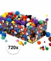 Feest knutselballetjes assortiment 720 stuks