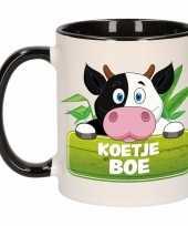 Feest koeien theebeker zwart wit koetje boe 300 ml