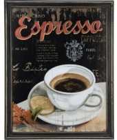 Feest koffie vintage schilderij van hout 10062183