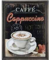 Feest koffie vintage schilderij van hout 10062184