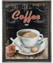 Feest koffie vintage schilderij van hout 10062185