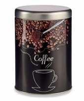 Feest koffie voorraadbus bewaarblik metaal 15 cm