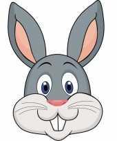 Feest konijnen maskers van karton