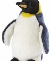 Feest koningspinguin knuffelbeest 28 cm