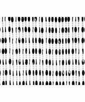 Feest kralengordijn deurgordijn zwart 90 x 220 cm
