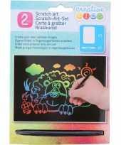 Feest kras tekening krasfolie regenboog kleuren leeuw