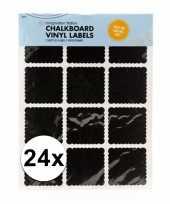 Feest krijtbord etiket stickers 24 stuks