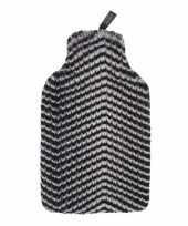 Feest kruik met nep bont zebra hoes 2 liter