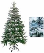 Feest kunst kerstbomen met sneeuw 150 cm