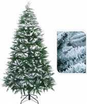 Feest kunst kerstbomen met sneeuw 210 cm