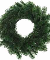 Feest kunst kerstkrans groen 35 cm