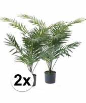 Feest kunstplant palmboompje groen 2 stuks 10110130
