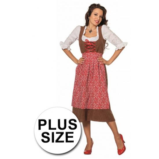 Feest lang tiroler grote maat kostuum voor dames