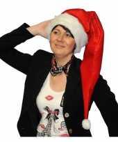 Feest lange rode kerstmuts voor volwassenen