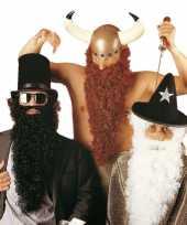 Feest lange zwarte baard met snor