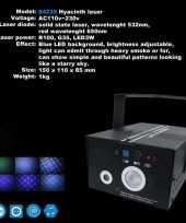 Feest laser met blauwe effecten