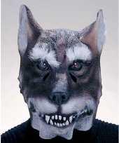 Feest latex wolf masker