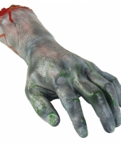Feest latex zombie hand afgehakt