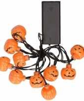 Feest led verlichting lichtsnoer pompoen 10 lampjes 140 cm