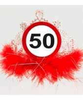 Feest leeftijd thema 50 jaar diadeem