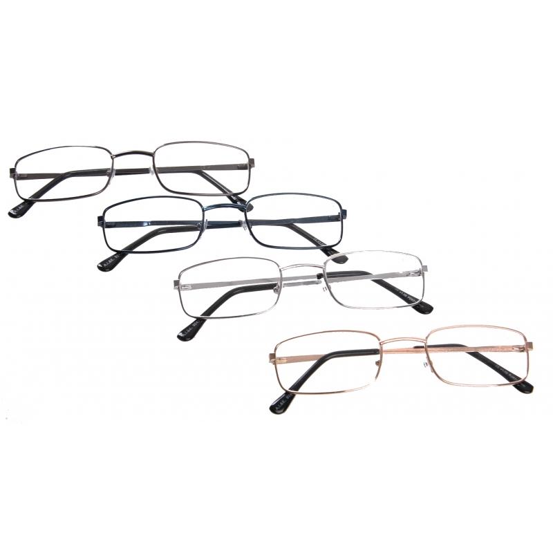 Feest leesbril met metalen montuur 10076660