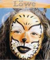 Feest leeuw schminken schminkset 6 delig