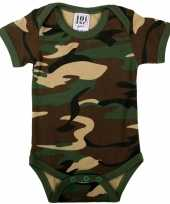 Feest leger camouflage baby romper