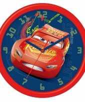 Feest leren klokkijken cars analoge klok 26 cm