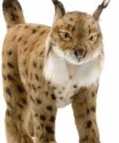 Feest levensechte hansa pluche knuffel lynx bruin 35 cm
