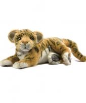 Feest levensechte hansa pluche tijger welp knuffel 26 cm