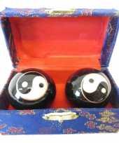 Feest levensenergie kogels yin yang 3 5 cm in kistje