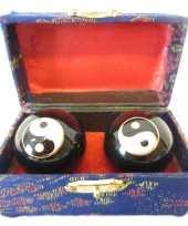 Feest levensenergie kogels yin yang 4 5 cm in kistje