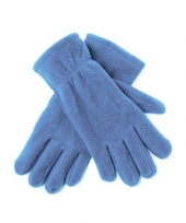 Feest lichtblauwe fleece handschoenen