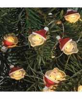 Feest lichtsnoeren met kerstmannetjes inclusief timer op batterijen 230 cm