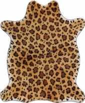 Feest luipaard nep dierenvel kleed plaid 90 cm
