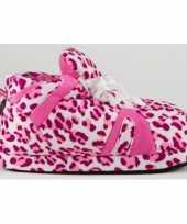 Feest luipaard pantoffels roze voor meisjes