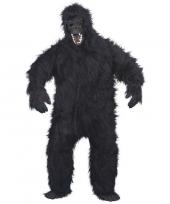 Feest luxe gorilla pak kostuum voor volwassenen