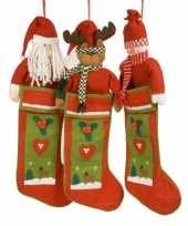 Feest luxe kerstsok met kerstman 80 cm