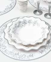 Feest luxe placemats zilver 33 cm