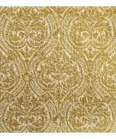 Feest luxe servetten barok motief goud 3 laags 15 stuks