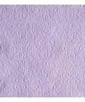 Feest luxe servetten barok patroon paars 3 laags 15 stuks