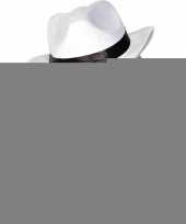 Feest luxe witte carnaval gangster hoeden