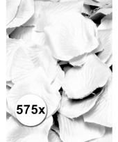 Feest luxe witte rozenblaadjes 575 stuks