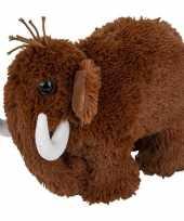 Feest mammoeten speelgoed artikelen mammoet knuffelbeest bruin 26 cm