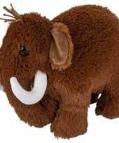 Feest mammoeten speelgoed artikelen mammoet knuffelbeest bruin 36 cm