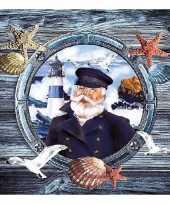 Feest maritieme thema servetten van papier 20 st