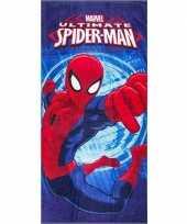 Feest marvel spiderman badlaken strandlaken blauw 70 x 140 cm